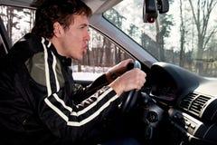 Aggressive driver Royalty Free Stock Image