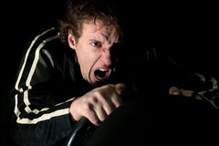 Aggressive driver stock images