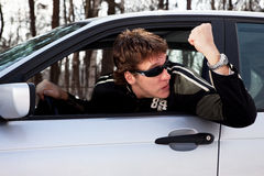 Aggressive driver Stock Photography