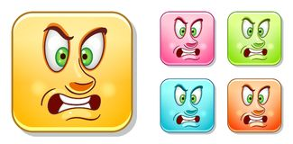 Aggressive Emoticons collection Royalty Free Stock Images