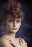 Aggressive female in beauty shoot Royalty Free Stock Image