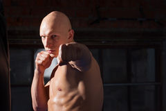 Aggressive fighter Royalty Free Stock Images