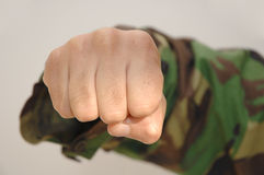 Aggressive fist. Close up of a aggressive fist Royalty Free Stock Photos