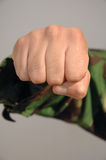 Aggressive fist Stock Images
