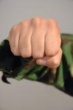 Aggressive fist. Close up of a aggressive fist Stock Images