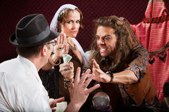 Aggressive Fortune Tellers Royalty Free Stock Photography