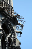 Aggressive gargoyles. Head, Paris Stock Photo