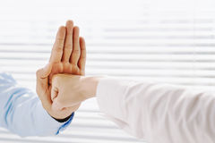 Aggressive gesture Stock Image