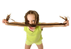 Aggressive girl Royalty Free Stock Photo
