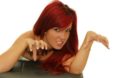 Aggressive girl Stock Photography