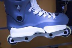 Aggressive inline free skates Stock Photo