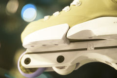 Aggressive inline free skates Royalty Free Stock Image