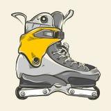 Aggressive inline skates. Hand drawn aggressive inline skates Stock Photos