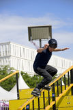 Aggressive Inline Skating (Handrail) Action Stock Images