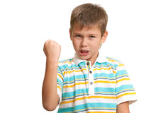 Aggressive kid Stock Image