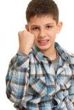 Aggressive kid Royalty Free Stock Photo