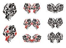 Aggressive lion head symbols Royalty Free Stock Images