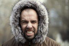 Aggressive man Stock Images
