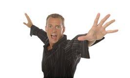 Aggressive man Stock Photo