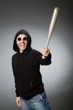 The aggressive man with basebal bat Royalty Free Stock Photos