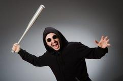 The aggressive man with basebal bat Stock Image
