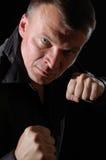 Aggressive man boxing Royalty Free Stock Photos