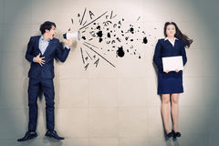 Aggressive management Royalty Free Stock Photos