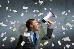 Aggressive management Royalty Free Stock Image
