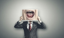 Aggressive manager Royalty Free Stock Image