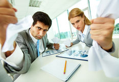 Aggressive managers Stock Photo