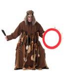 Aggressive middle-aged shaman posing at camera Royalty Free Stock Photos