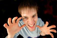 Aggressive person Stock Image