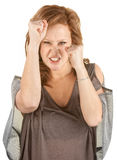 Aggressive Red Head Female Royalty Free Stock Photography