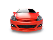 Aggressive red sportscar illustration Stock Image