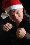 Aggressive Santa Stock Image