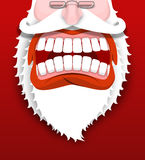 Aggressive  Santa Claus shouts. Unhappy Santa Royalty Free Stock Image