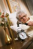 Aggressive Senior Woman Royalty Free Stock Photos