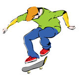 Aggressive skateboarder Royalty Free Stock Image