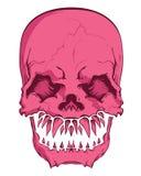 Aggressive skull Stock Image