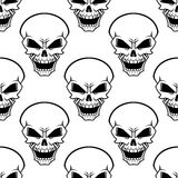 Aggressive skulls seamless pattern background Royalty Free Stock Image