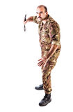 Aggressive Soldier Royalty Free Stock Photography