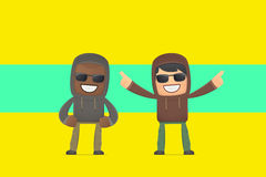 Aggressive street hooligans. Conceptual illustration Royalty Free Stock Photo