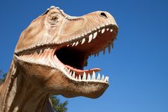 Aggressive T-Rex Royalty Free Stock Photos