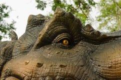 Aggressive T Rex eye. Royalty Free Stock Photos