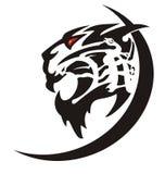 Aggressive tiger icon Royalty Free Stock Image