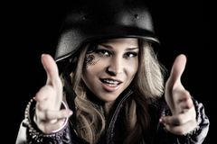 Aggressive woman Royalty Free Stock Images