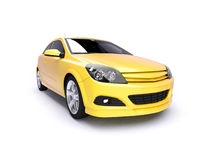 Aggressive yellow sports car Royalty Free Stock Photo
