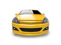Aggressive yellow sports car Stock Photo