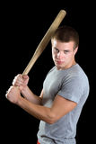 Aggressive young man Stock Photography