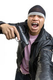 The aggressive young man Royalty Free Stock Image